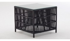 Table basse Donatello en rotin Noir