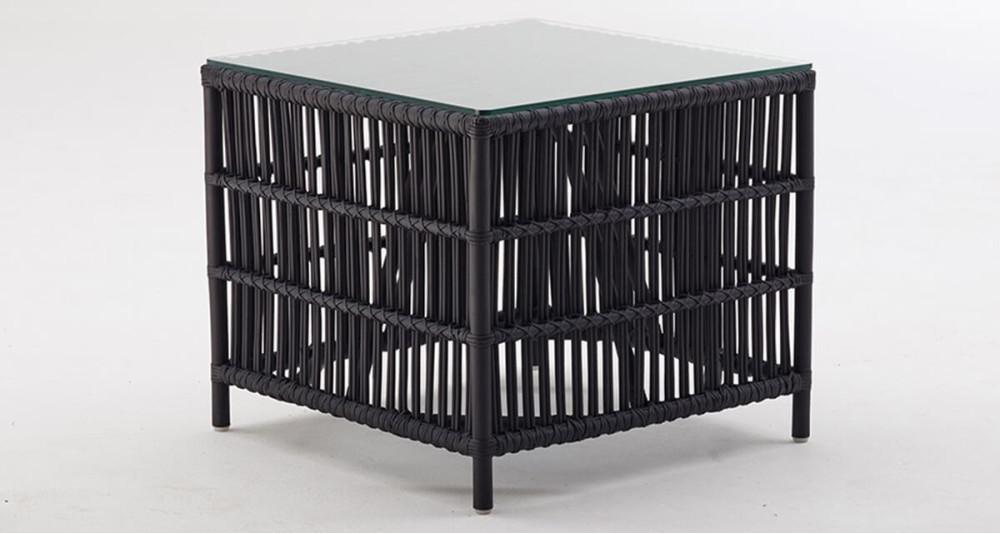Table basse Donatello en rotin Noir