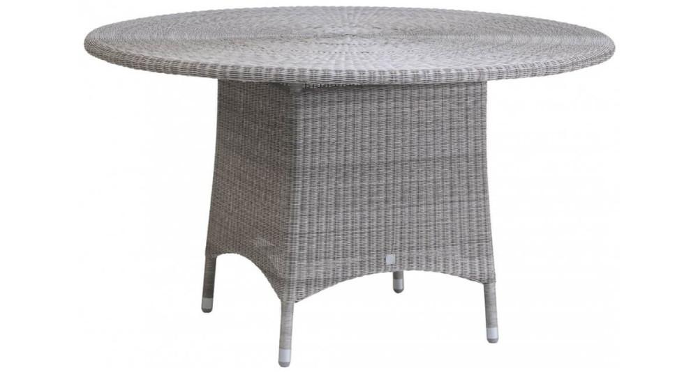 Grande table de jardin ronde Cigale en résine fine