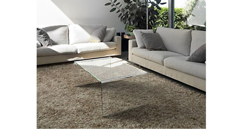 Table basse en verre 110 cm Coline - 4 coloris