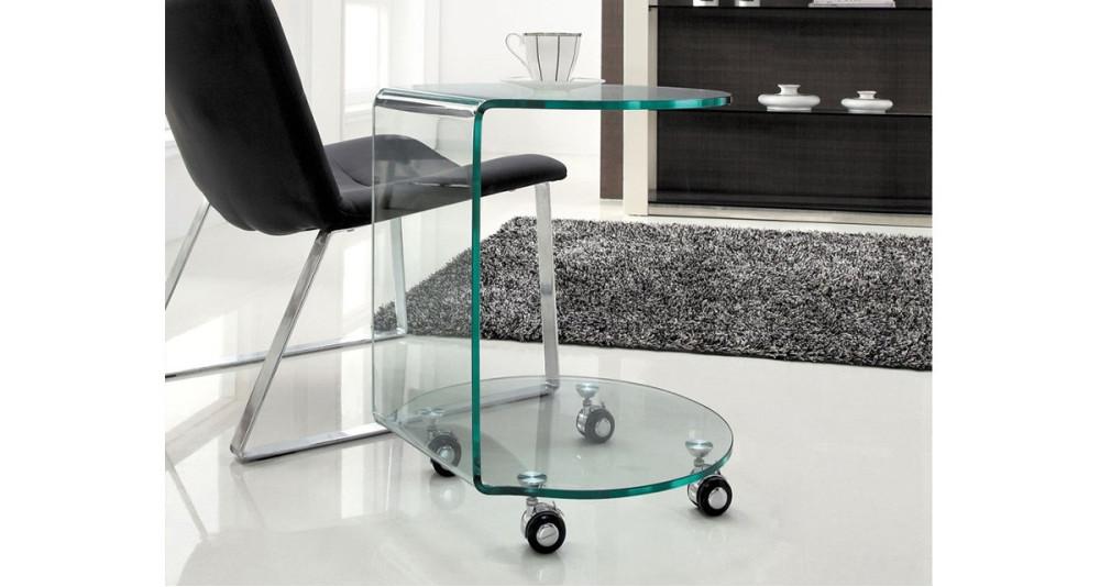 Table à café ronde en verre Mollie