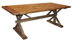 Table de ferme en bois ancien 200 cm Irvine Farm