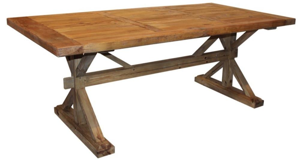Table de ferme en bois ancien 200 cm Irvine Farm