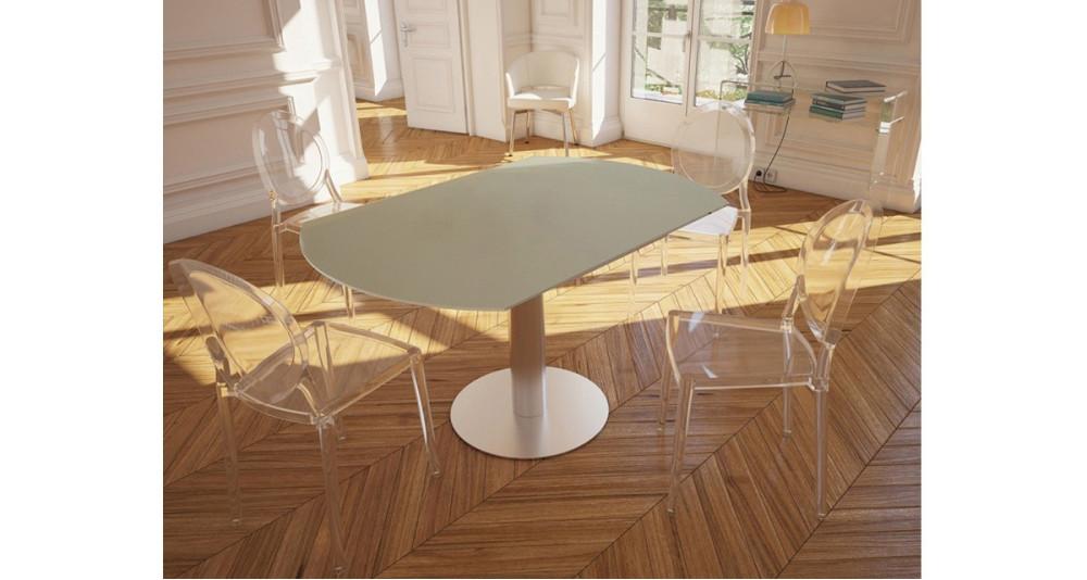Table repas ronde à rallonges rétractables Onyx - 5 coloris