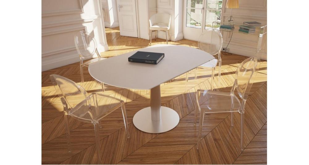 Chaise classique médaillon en polycarbonate Marquise - 3 coloris