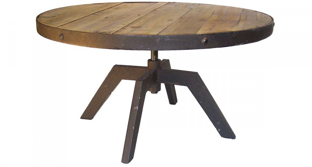 Table basse ronde bois et métal Heelands