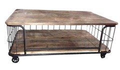 Table basse grillagée industrielle Dadford