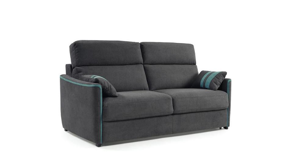 Canapé lit peu encombrant matelas 18 cm Enoch