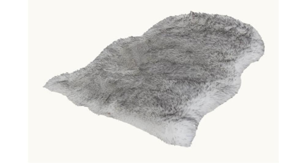 Tapis en fourrure grise 60 x 90 Zermatt