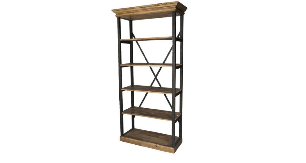 Étagère en bois et fer 5 niveaux Wilsford
