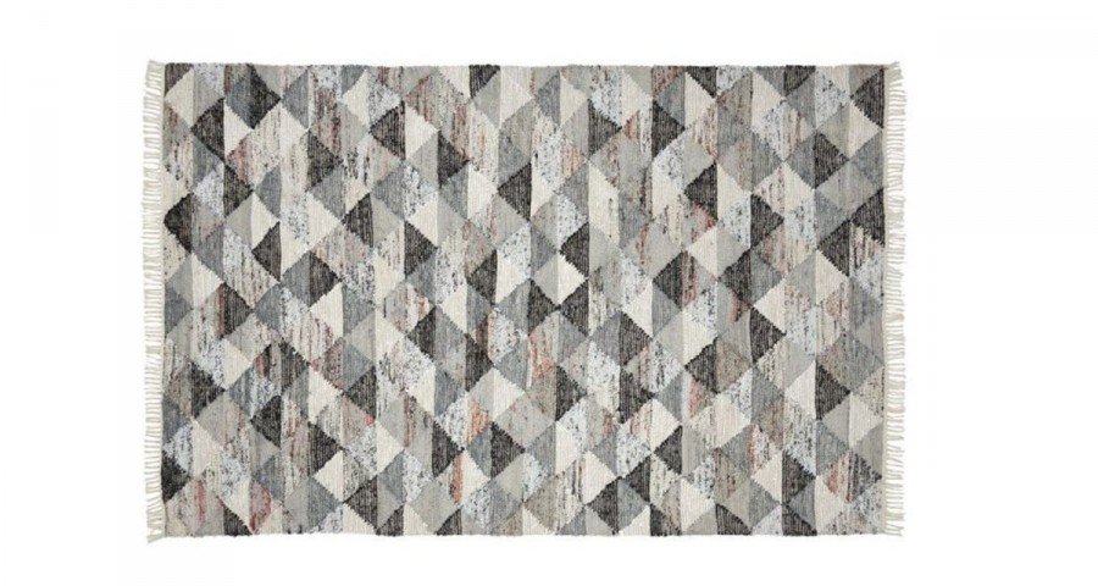 Tapis Empreinte gris fabrication artisanale