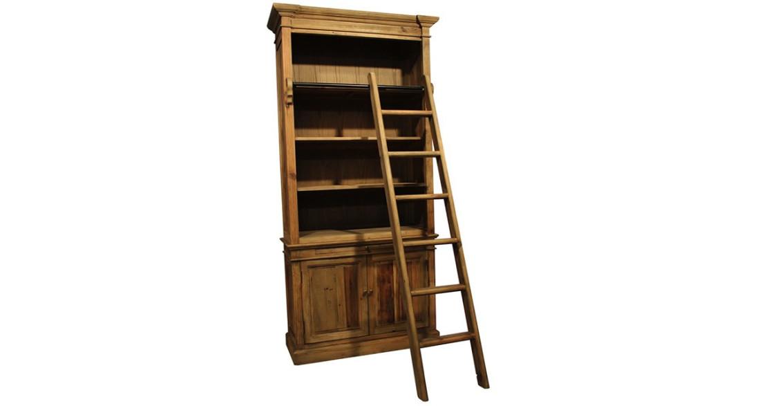 Deco Avec Une Echelle En Bois bibliothèque rustique en bois recyclé avec échelle forest park