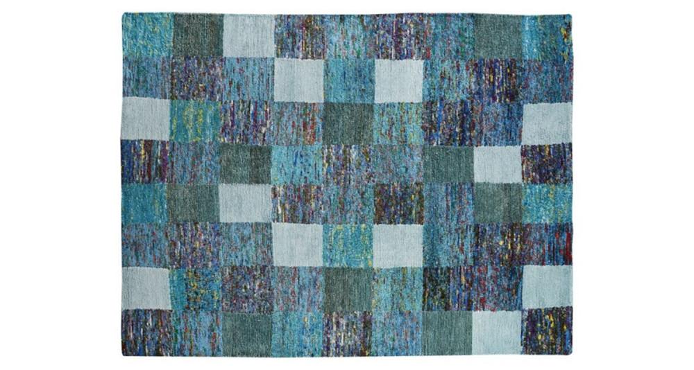 Tapis Sari motif gros carrés - 2 coloris