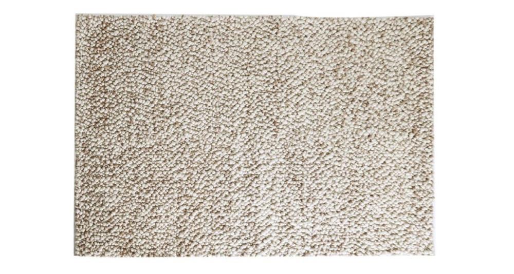 Tapis Stone en laine écru