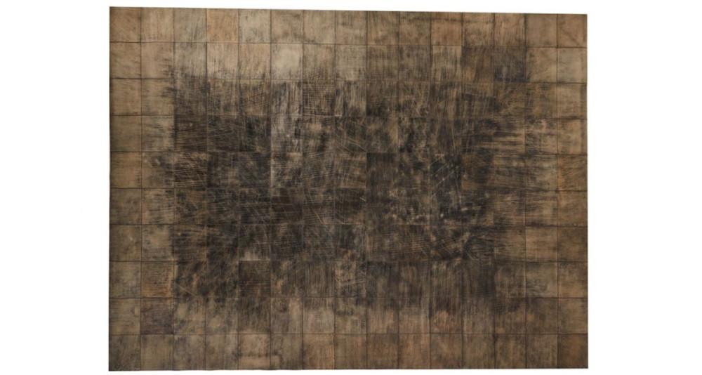 Tapis Walker avec patchwork de cuir - 2 coloris