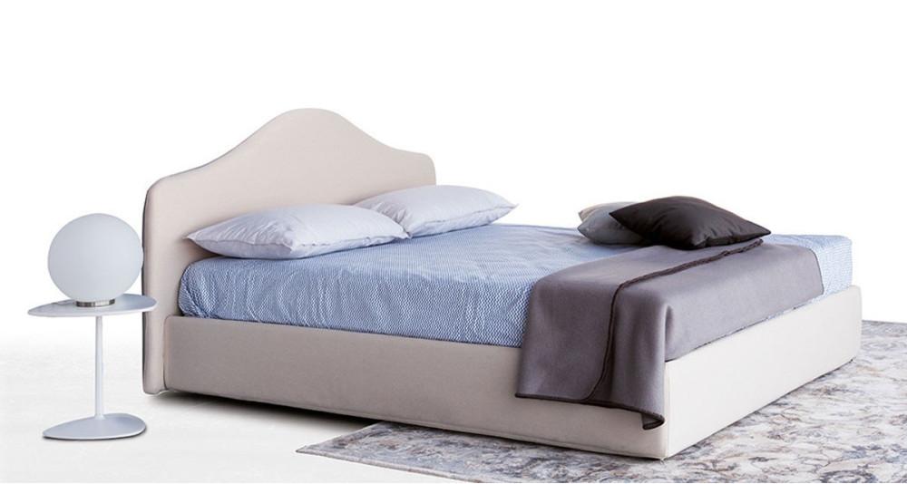 Lit coffre haut de gamme Melissandre avec tête de lit classique