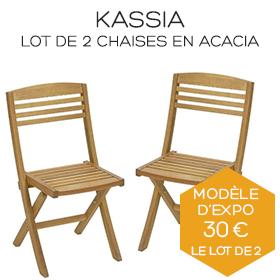 Chaises Kassia lot de deux boutique Marseille