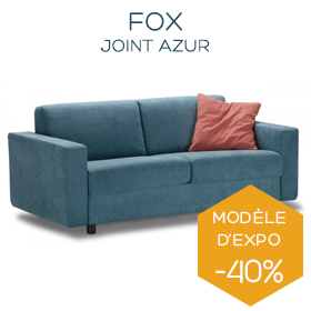Canapé bleu Fox boutique Marseille