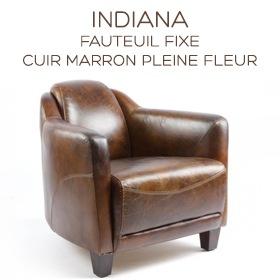 fauteuil club Indiana en cuir