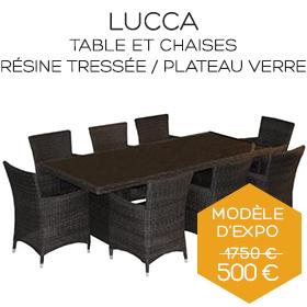 Table Lucca et chaises boutique Marseille