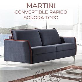 Canapé lit pieds métal Martini