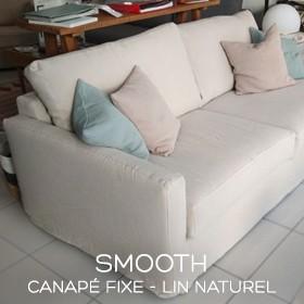 Canapé en lin Smooth boutique Marseille