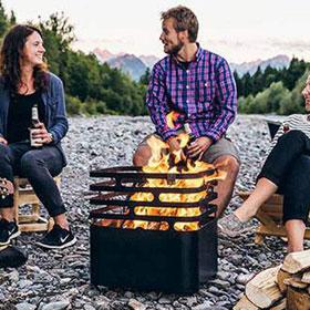 Barbecue, cube à feu Cube