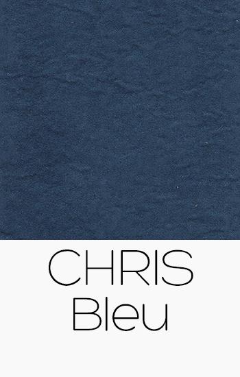 Tissu Chris bleu