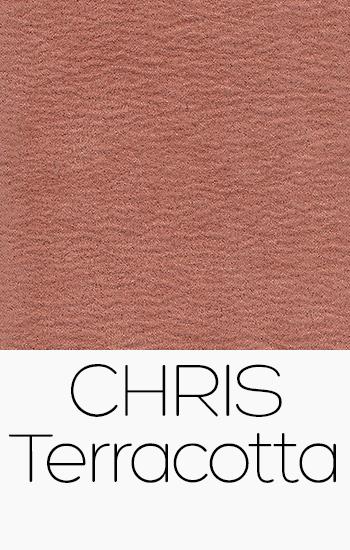 Tissu Chris terracotta