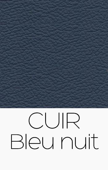 Tissu Cuir bleu-nuit