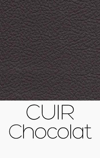 Tissu Cuir chocolat