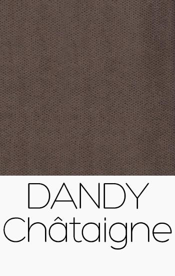 Tissu Dandy chataigne