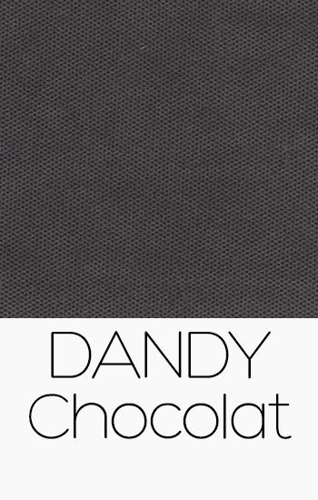 Tissu Dandy chocolat
