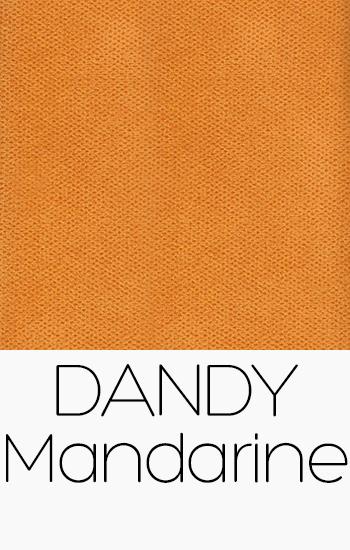 Tissu Dandy mandarine