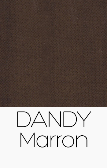 Tissu Dandy marron