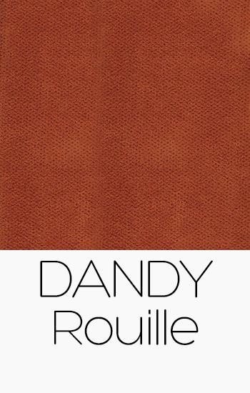 Tissu Dandy rouille