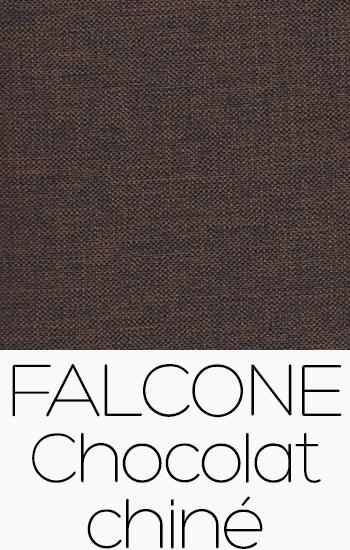 Tissu Falcone chocolat-chine