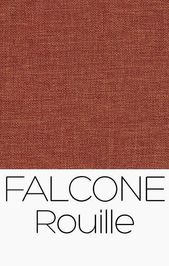Tissu Falcone rouille