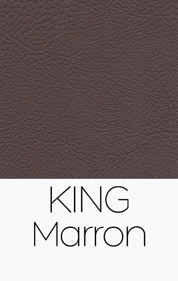 Tissu King marron