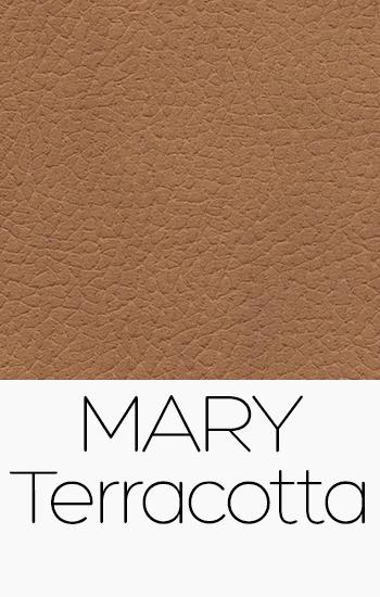 Tissu Mary terracotta