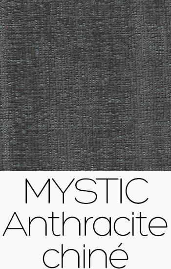 Tissu Mystic anthracite-chine