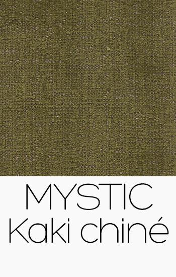 Tissu Mystic kaki-chine