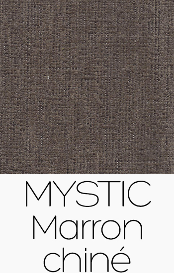Tissu Mystic marron-chine
