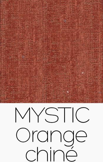 Tissu Mystic orange-chine