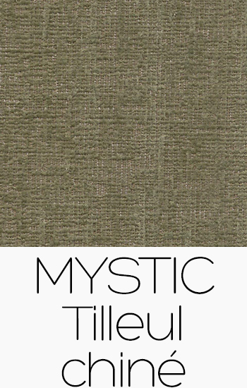 Tissu Mystic tilleul-chine