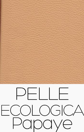 Tissu Pelle Ecologica papaye