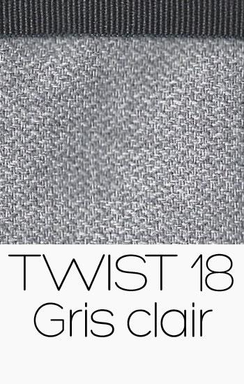 Tissu Twist Gris clair
