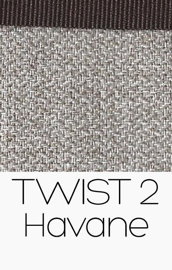 Tissu Twist Havane