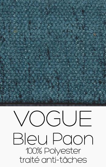 Tissu Vogue Bleu Paon