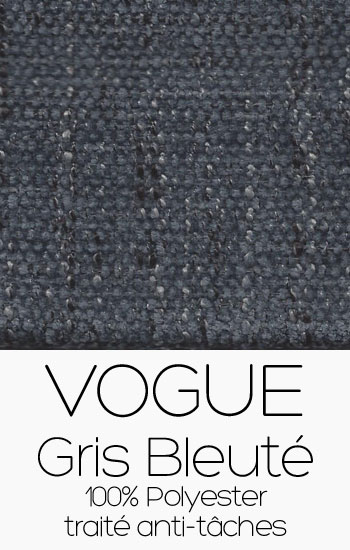 Tissu Vogue gris bleuté